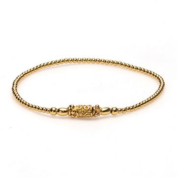 XS Balistyle Bracelet Goldplated Logo Bead