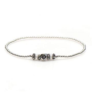 XS Balistyle Bracelet Silver SAND Logo Bead