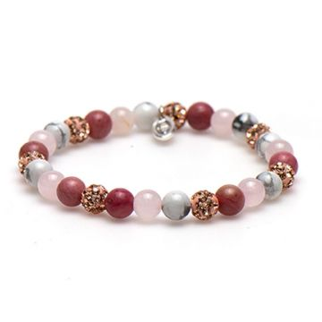 Spiral Beautiful Berry xs elastic (rose crystal)