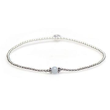 XS Balistyle Bracelet Silver Aqua Blue