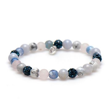 Spiral Blue Beach xs elastic (blue crystal)