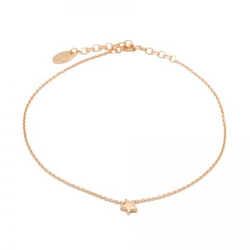 Anklet Star Roseplated