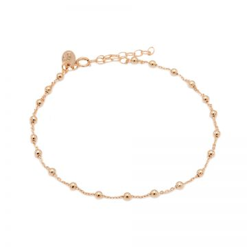 Anklet Ball Roseplated