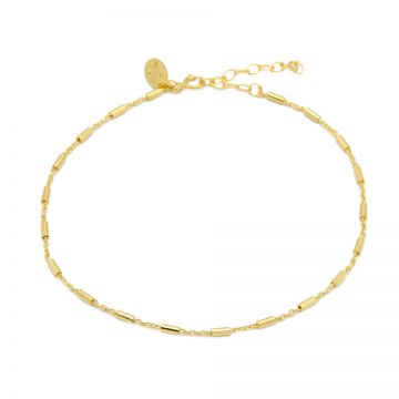 Anklet Tube Goldplated