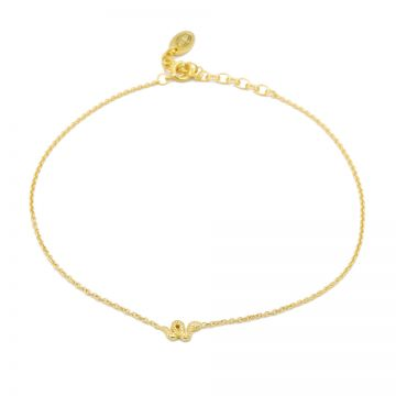 Anklet Snake Goldplated