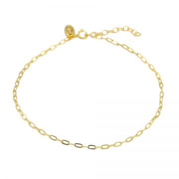 Anklet Oval Chain Goldplated