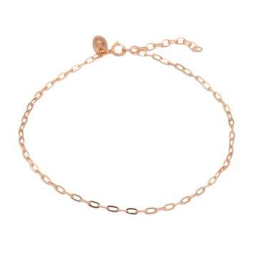 Anklet Oval Chain Roseplated