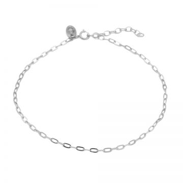 Anklet Oval Chain Silver