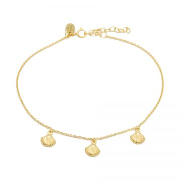 Anklet Shells Goldplated
