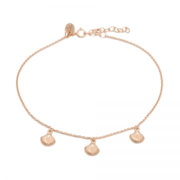 Anklet Shells Roseplated