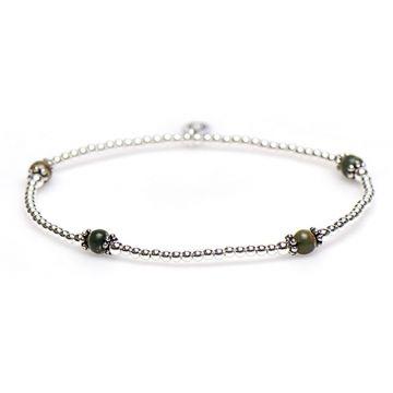 XS Balistyle Bracelet Silver Rhyolite Green