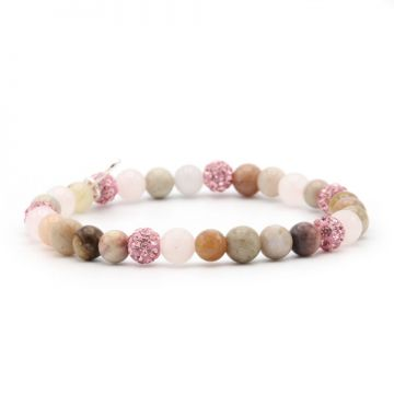 Spiral Pink Earth XS elastic (pink crystal)