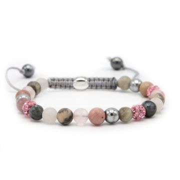 Spiral Icy Flower XS (pink crystal)