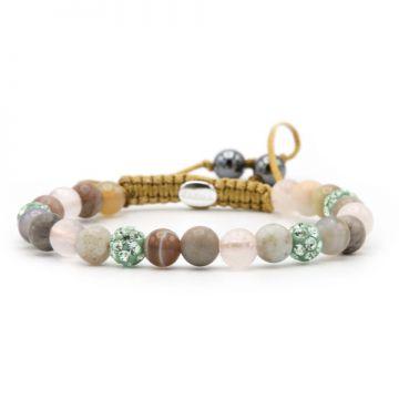 Spiral Pink Beach XS (green crystal)