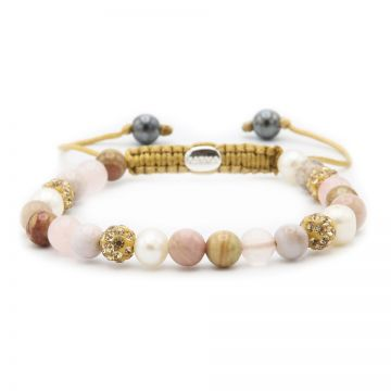 Spiral Soft Pearls XS (gold crystal)