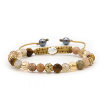 Spiral Down The Beach XS (gold crystal)