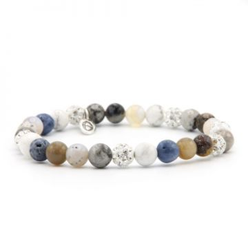 Spiral Blue Moon XS elastic (white crystal)