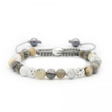 Spiral Natural Grey XS (white crystal)