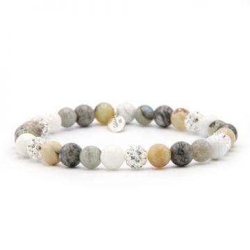 Spiral Natural Grey XS elastic (white crystal)