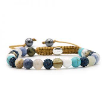 Spiral Marble Ocean XS (blue crystal)