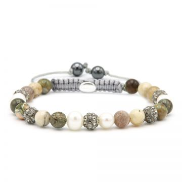 Spiral Shiny Pearl XS (grey crystal)