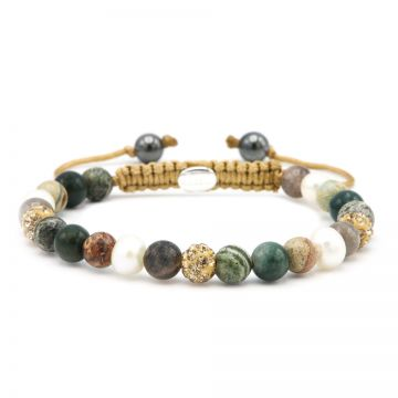 Spiral Emerald Pearl XS (gold crystal)
