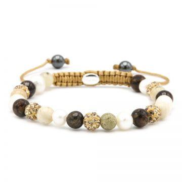 Spiral Natural Pearl XS (gold crystal)