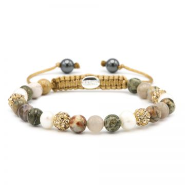 Spiral Autumn Pearl xs (gold crystal)