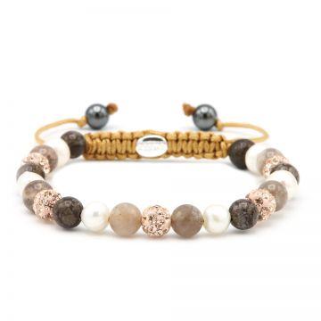 Spiral Pink Pearl XS (rose crystal)