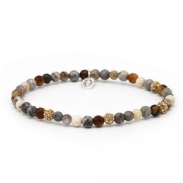 Spiral Brilliance xxs elastic (gold crystal)