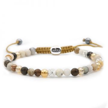 Spiral Creamy Gold XXS (white crystal)