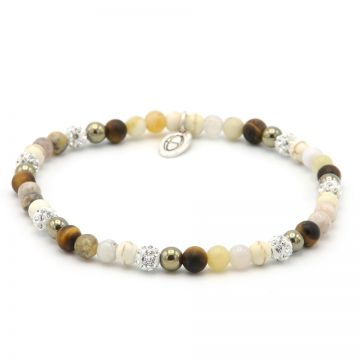 Spiral Frozen Gold xxs elastic (white crystal)