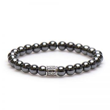 Hematite Silver Bead