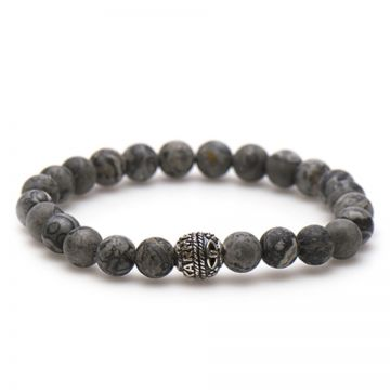 Matt Crazy Grey Silver Bead