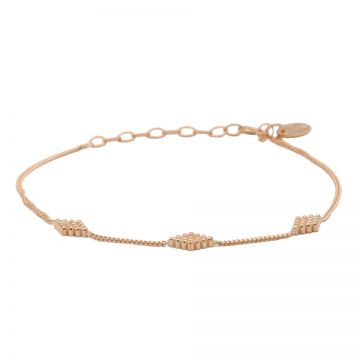 Bracelet Diamond Shape Dots Roseplated