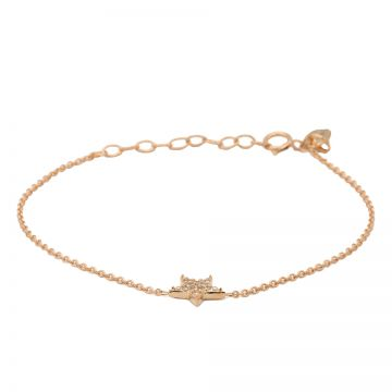 Bracelet Zirconia Star Roseplated