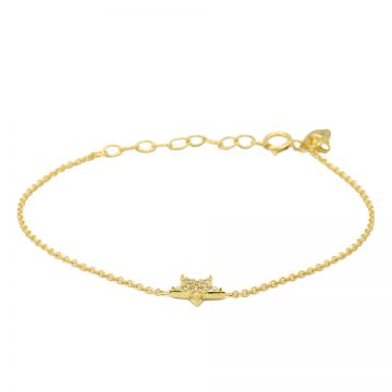 Bracelet Zirconia Star Goldplated