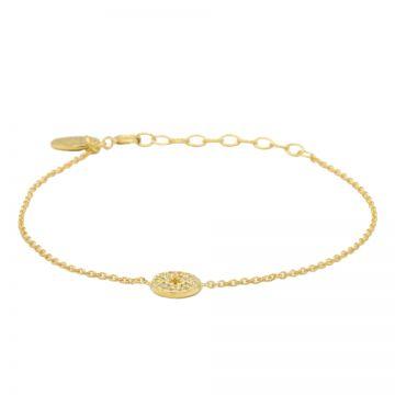 Bracelet Zirconia Disc Morningstar Goldplated