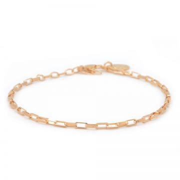 Bracelet Square Chain Roseplated