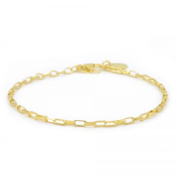 Bracelet Square Chain Goldplated