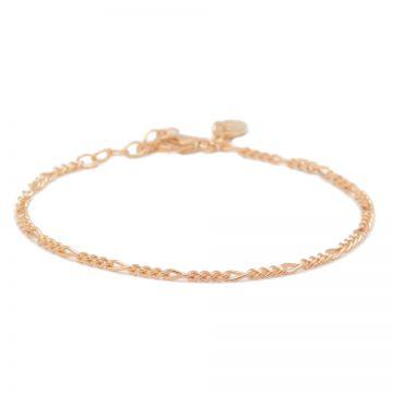 Bracelet Figaro Roseplated