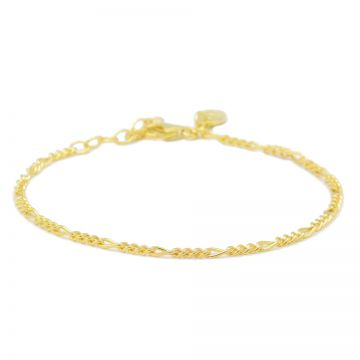 Bracelet Figaro Goldplated