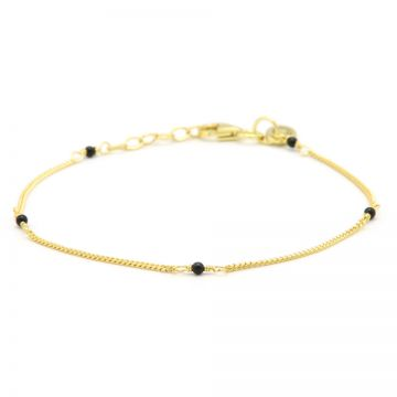 Bracelet Tiny Onyx Goldplated