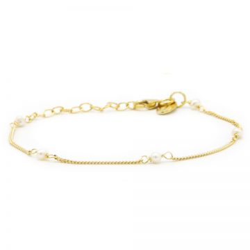 Bracelet Pearl Goldplated
