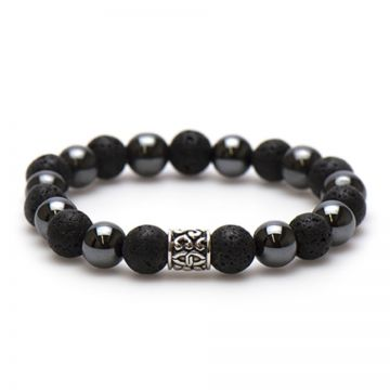 Black Panther Silver Bead 10MM
