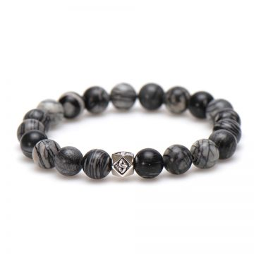 Grey Matters Silver Bead 10MM
