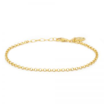 Bracelet Round Chain Goldplated