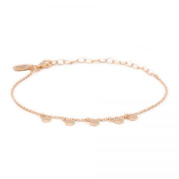 Bracelet 5 Discus Roseplated
