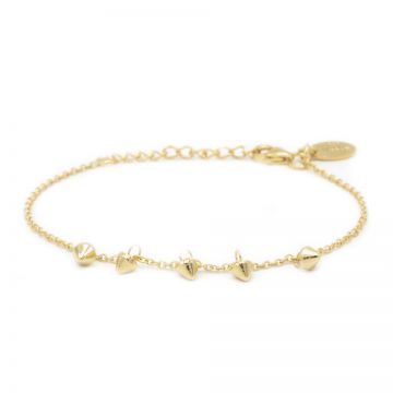 Bracelet 5 Mini Cones Goldplated