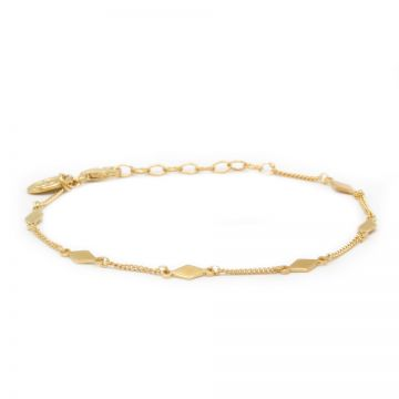 Bracelet Diamond Shape Goldplated